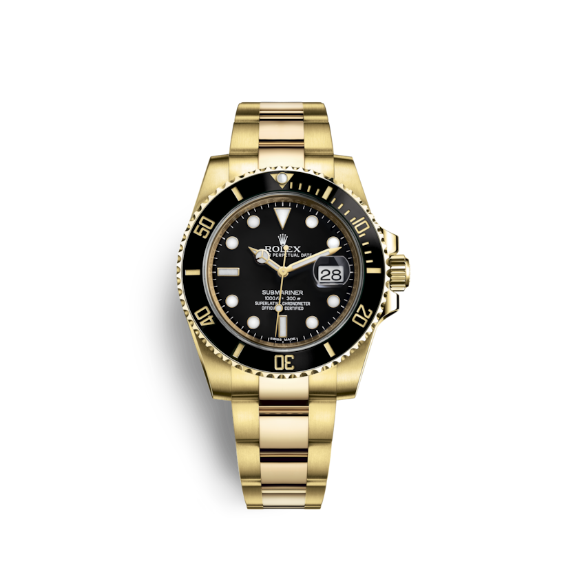 rolex submariner date 18 kt geelgoud m116618ln 0001. Black Bedroom Furniture Sets. Home Design Ideas