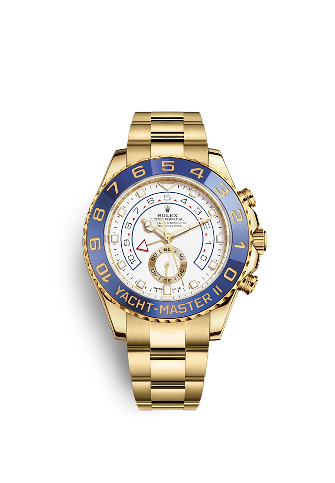 Yacht-Master II, Oyster, 44 mm, yellow gold