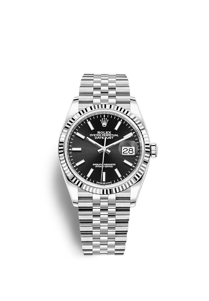 Datejust 36, Oyster, 36 mm, Oystersteel and white gold