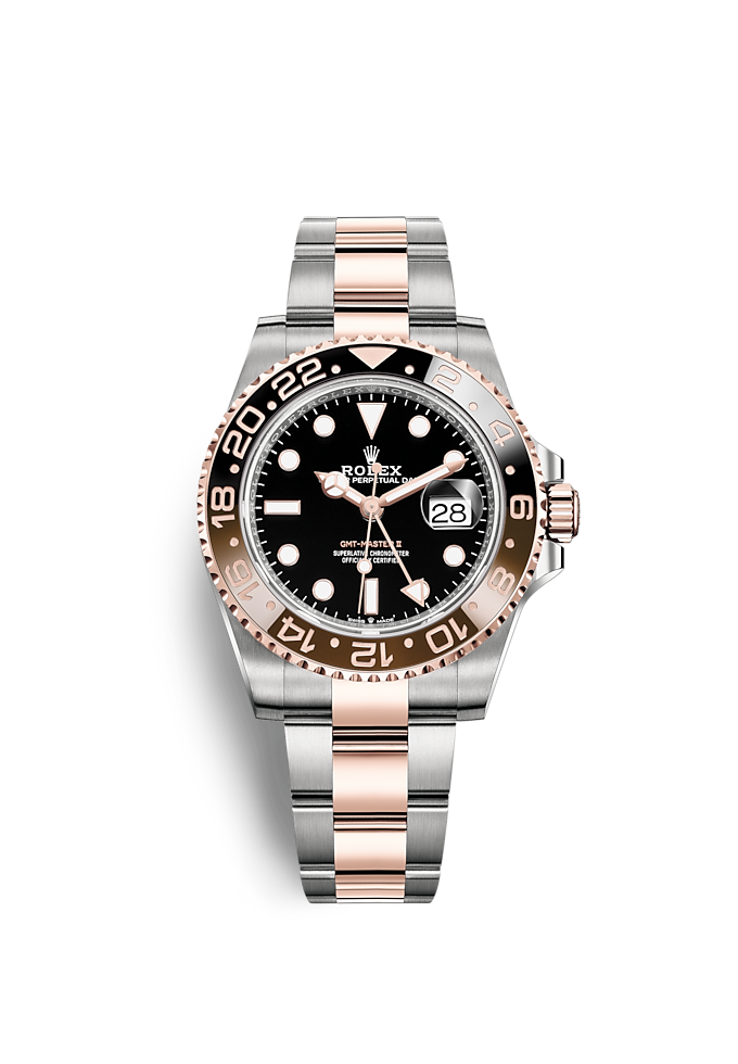 GMT-Master II, Oyster, 40 mm, Oystersteel and Everose gold