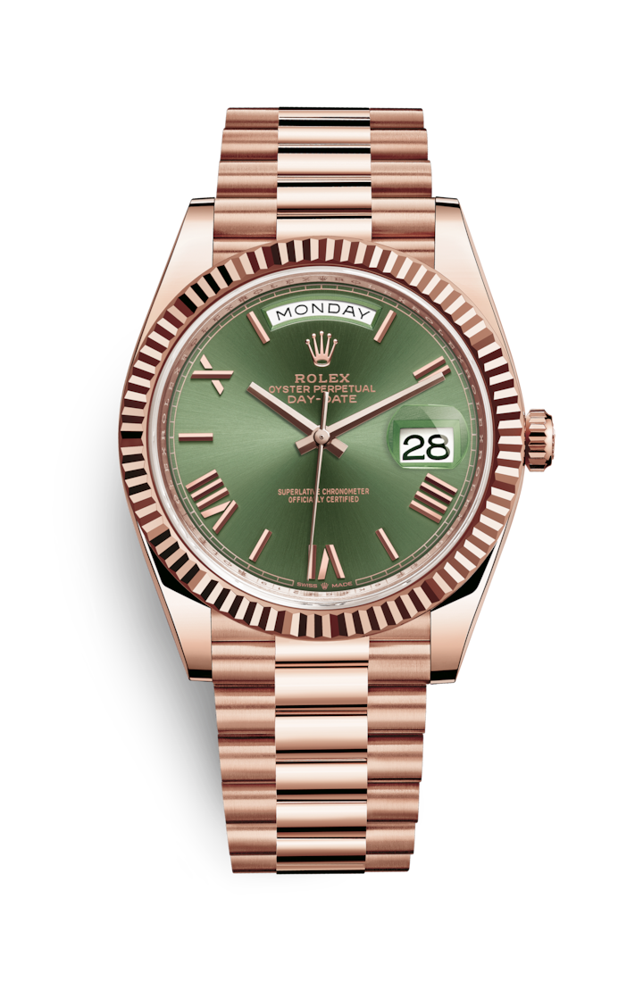 96dd7c51aed Rolex Day-Date 40 Watch: 18 ct Everose gold - M228235-0025