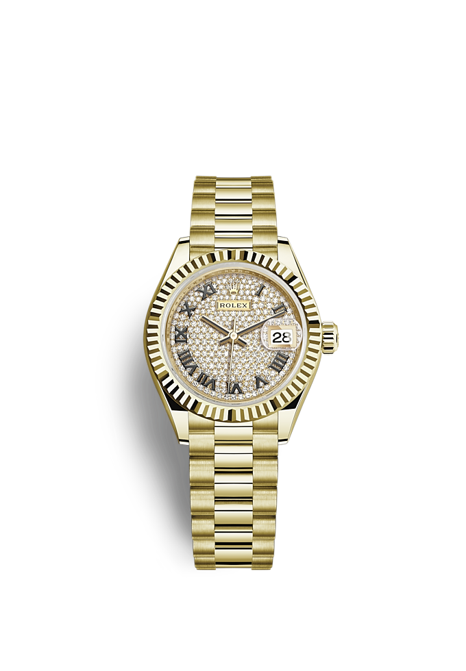 Lady-Datejust, Oyster, 28 mm, yellow gold