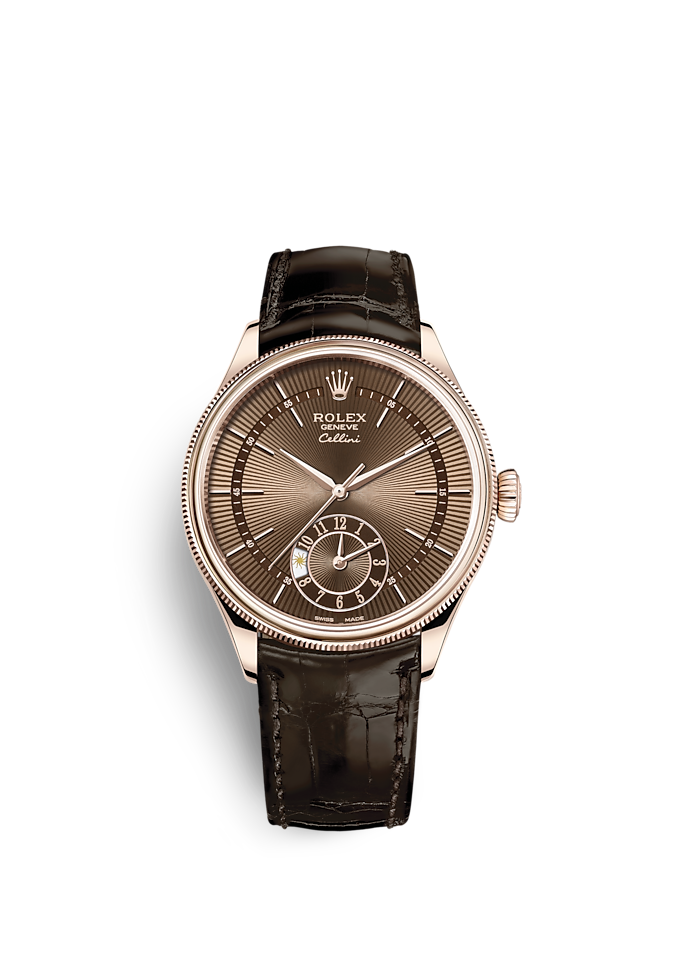 Cellini Dual Time, 39 mm, 18 Karat Everose-Gold, poliert