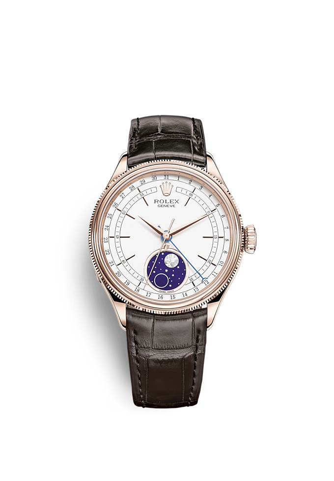 Cellini Moonphase, 39 mm, oro Everose 18 ct., finitura lucida