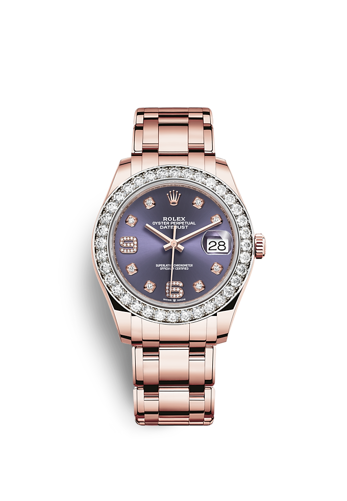 Pearlmaster 39, Oyster, 39 mm, oro Everose e diamanti
