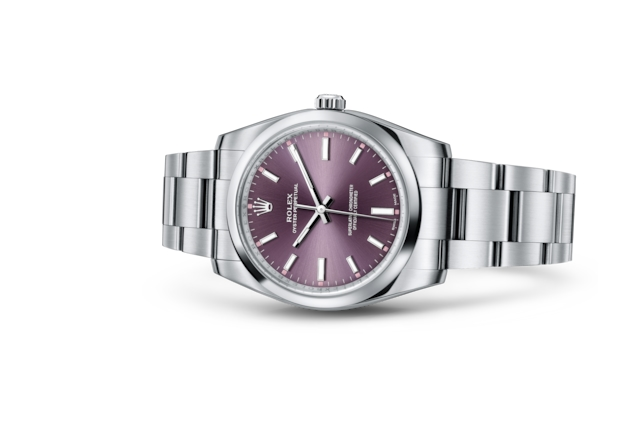 Oyster Perpetual 34 - Red grape, Aço Oystersteel