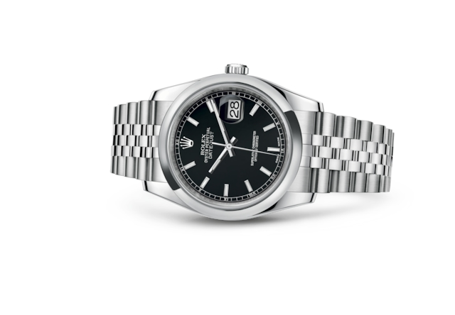 Datejust 36 - Black, Oystersteel