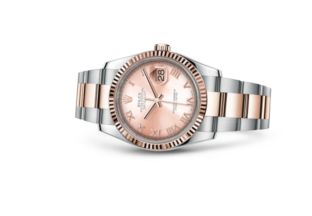 Datejust 36 - Rose, acier et or Everose