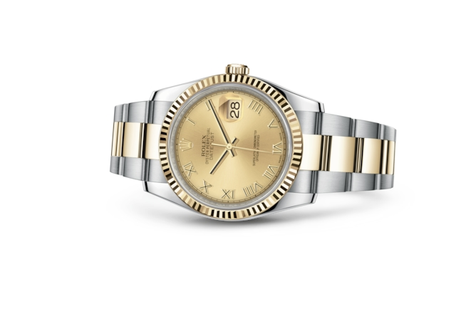 Datejust 36 - Champagne-colour, steel and yellow gold