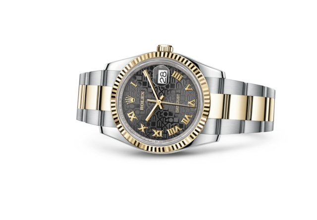 Datejust 36 - Black Jubilee design, steel and yellow gold