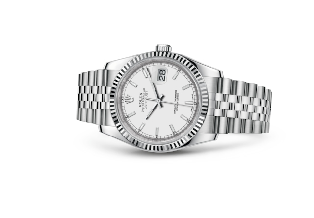 Datejust 36 - White, steel and white gold