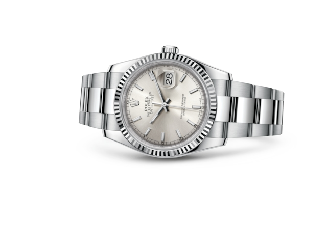 Datejust 36 - Silver, steel and white gold