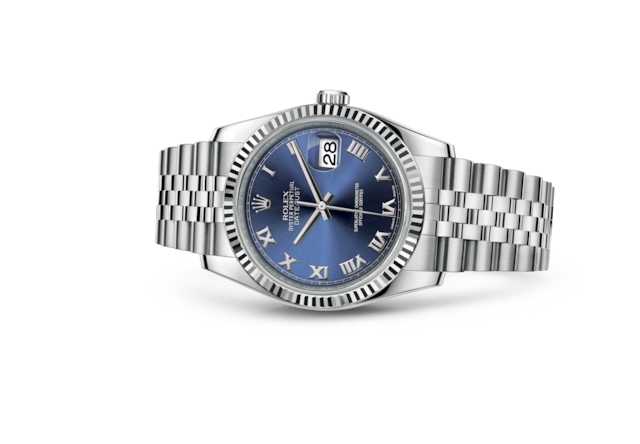 Datejust 36 - Blue, Oystersteel and white gold