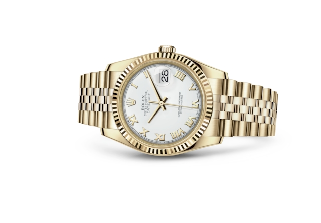 Datejust 36 - Blanc, or jaune
