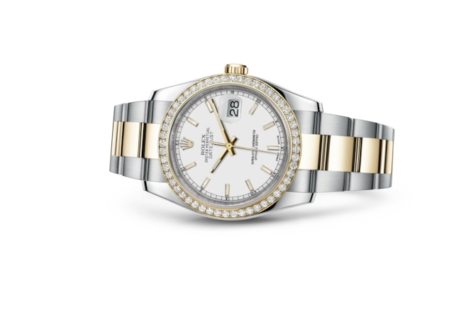 Datejust 36 - White, steel, yellow gold and diamonds