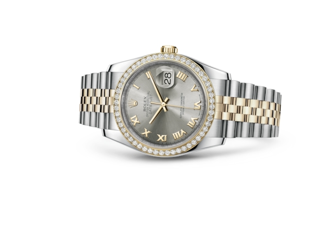 Datejust 36 - Acier, acier, or jaune et diamants