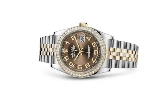 Datejust 36 - Bronze, acier, or jaune et diamants