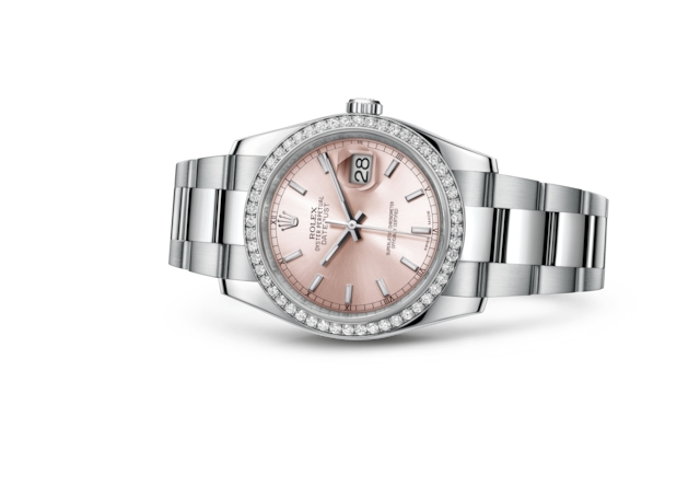 Datejust 36 - Pink, Oystersteel, white gold and diamonds