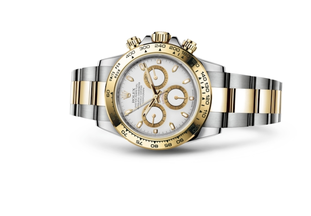 Cosmograph Daytona - White, Oystersteel and yellow gold
