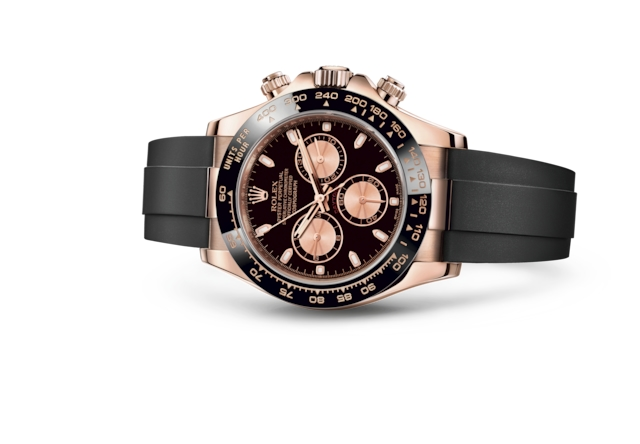 Cosmograph Daytona - Black and pink, Everose gold