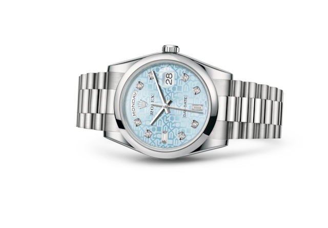 Day-Date 36 - Ice blue Jubilee design set with diamonds, platinum