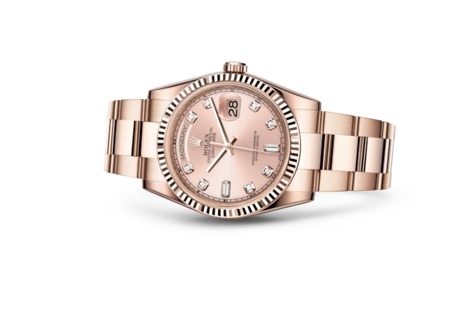 Day-Date 36 - Pink set with diamonds, Everose gold
