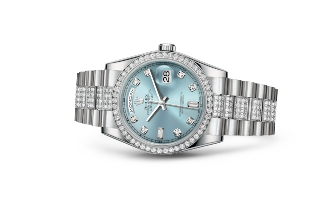 Day-Date 36 - Ice blue set with diamonds, platinum and diamonds
