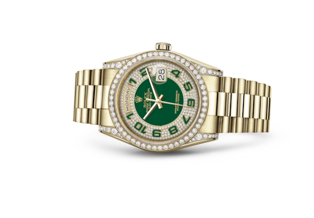 Day-Date 36 - Vert, pavé de diamants, or jaune et diamants