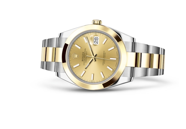 Datejust 41 - Champagne-colour, Oystersteel and yellow gold