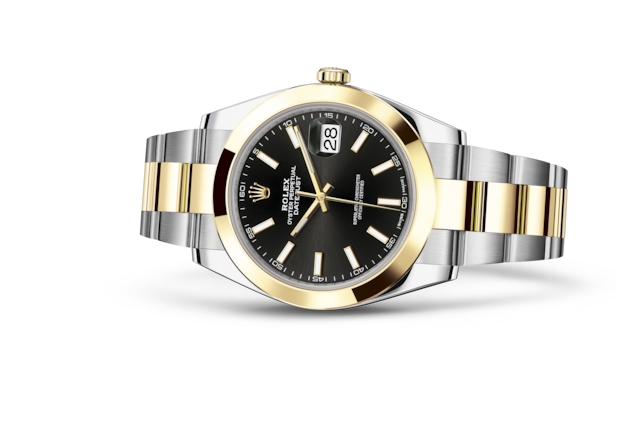 Datejust 41 - Black, Oystersteel and yellow gold