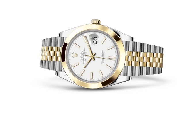 Datejust 41 - White, Oystersteel and yellow gold