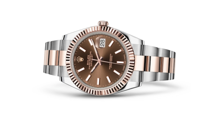 Datejust 41 - Chocolate, Oystersteel and Everose gold