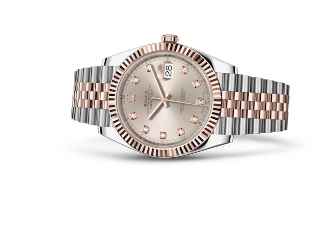 Datejust 41 - Sundust set with diamonds, steel and Everose gold
