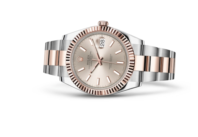 Datejust 41 - Sundust, Oystersteel and Everose gold