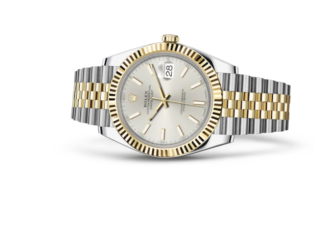 Datejust 41 - Silver, Oystersteel and yellow gold