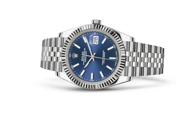 Datejust 41 - Blue, Oystersteel and white gold
