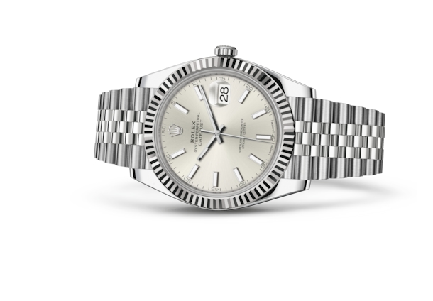 Datejust 41 - Silver, Oystersteel and white gold