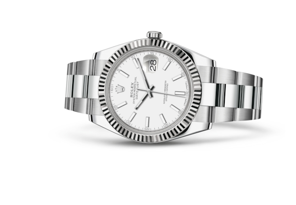 Datejust 41 - White, Oystersteel and white gold