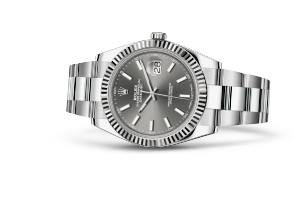 Datejust 41 - Dark rhodium, Oystersteel and white gold