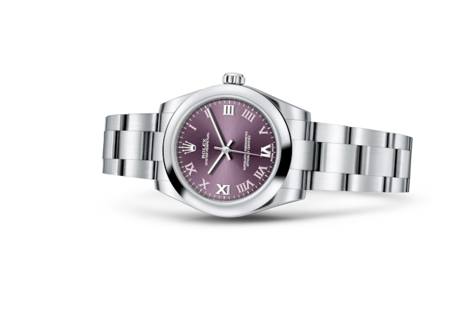 Oyster Perpetual 31 - Red grape, steel