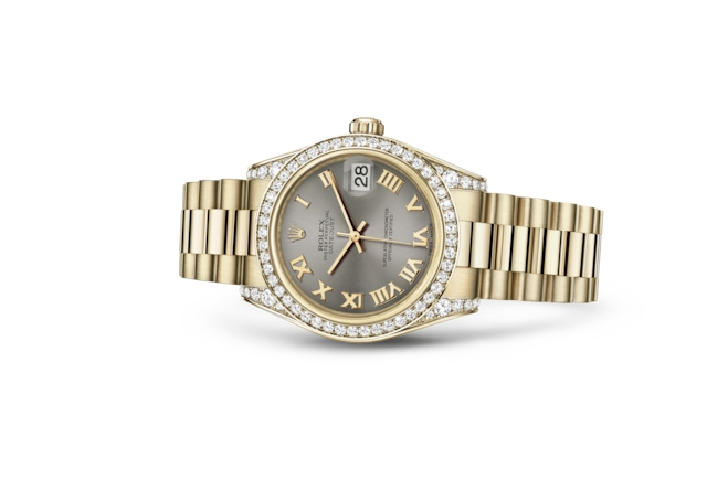Datejust 31 - Acier, or jaune et diamants