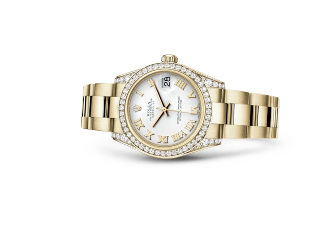 Datejust 31 - Blanc, or jaune et diamants