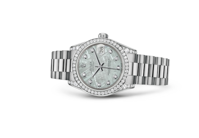 Datejust 31 - Meteorite set with diamonds, white gold and diamonds
