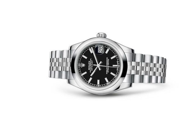 Datejust 31 - Black, Oystersteel