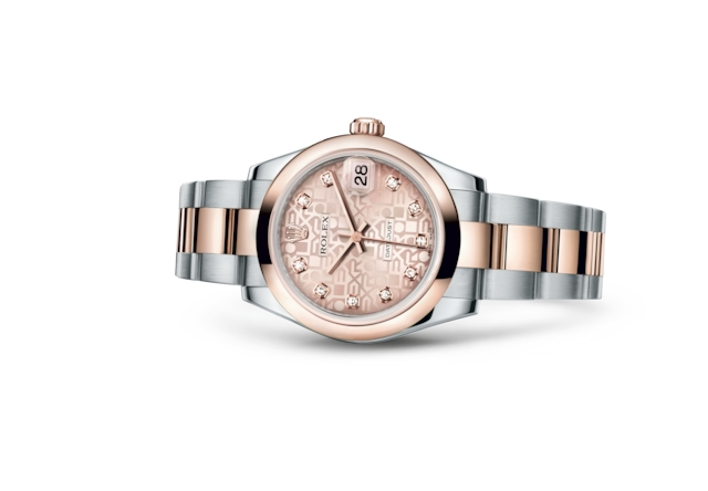 Datejust 31 - Pink Jubilee design set with diamonds, Oystersteel and Everose gold