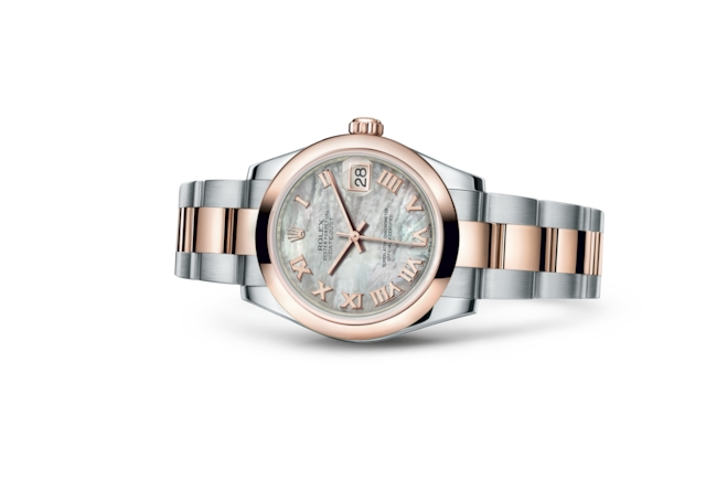 Datejust 31 - White mother-of-pearl, Oystersteel and Everose gold