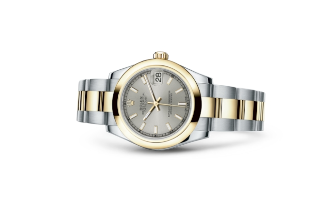 Datejust 31 - Silver, Oystersteel and yellow gold