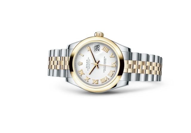 Datejust 31 - White, steel and yellow gold