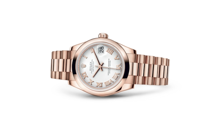 Datejust 31 - White, Everose gold
