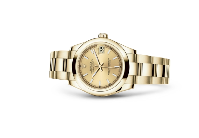Datejust 31 - Champagne-colour, yellow gold